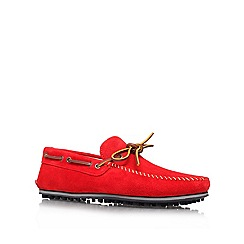 KG Kurt Geiger - Red 'Morgan' Leather loafer