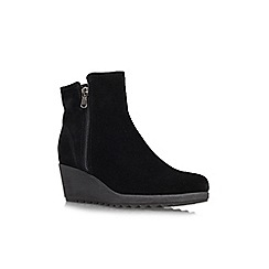 Carvela Comfort - Black 'Rusty' wedged boots
