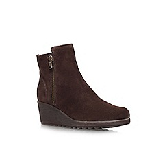 Carvela Comfort - Brown 'Rusty' wedged boots