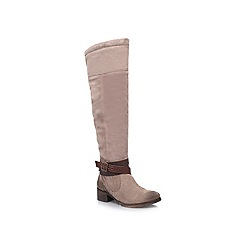 Miss KG - Taupe 'Wesley' low heeled boots
