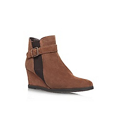 Carvela Comfort - Tan 'Ruth' wedge ankle boot