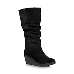 Carvela Comfort - Black 'Vivienne' high heel wedge knee boot