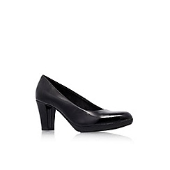 Carvela Comfort - Black 'Amy' mid heel court shoes