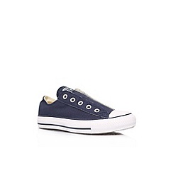 Converse - Navy 'CT slip low' flat low top trainer