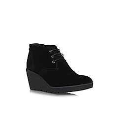 Carvela Comfort - Black 'Rita' mid heeled ankle boot