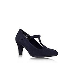 Carvela Comfort - Navy 'Anna' mid heeled shoe