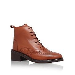 KG Kurt Geiger - Tan 'Savoy' flat ankle boot