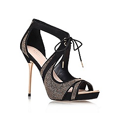 Carvela - Black 'Gwen' High heeled strappy court shoe