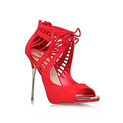 Carvela - Red 'Gridlock' High heeled strappy court shoe