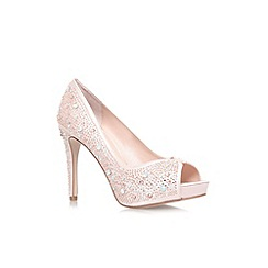 Carvela - Pale pink 'Grecian' high heel peep toe court shoes