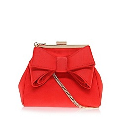 Miss KG - Red 'Tara' clutch bag