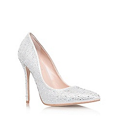 Carvela - Silver 'Gemini' high heel court shoe