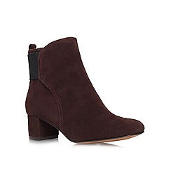 Nine West - Brown 'Faceit' Mid heeled ankle boots