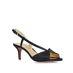 Nine West - Black 'Gelsea2' Low heeled peep toe courts