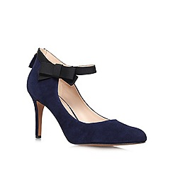 Nine West - Navy 'Gushing' High Heeled Court Shoe