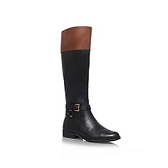 Anne Klein - Blk/Brown 'Coldfeet' Leather boot