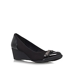 Anne Klein - Black 'Tamarow' mid wedged courts
