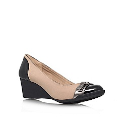 Anne Klein - Taupe 'Tamarow' mid wedged courts