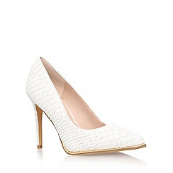 KG Kurt Geiger - White 'Beauty' high heel court shoe