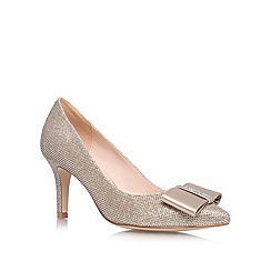 Nine West - Gold 'Tiffany' mid heeled courts