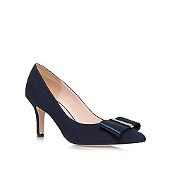 Nine West - Navy 'Tiffany' mid heeled courts