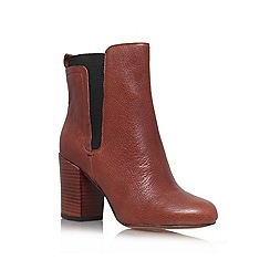 Nine West - Brown 'Saga' High block heeled ankle boots