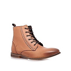 KG Kurt Geiger - Tan 'Alex' lace up boots