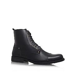 KG Kurt Geiger - Black 'Wilson' Lace-up ankle boot