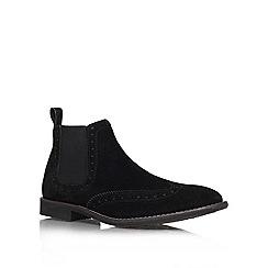 KG Kurt Geiger - Black 'Sherman' Leather ankle boot