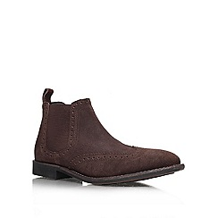 KG Kurt Geiger - Brown 'Sherman' Leather ankle boot