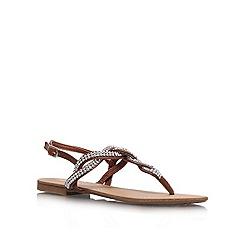 Miss KG - Tan 'Danni' flat sandal