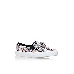 KG Kurt Geiger - Black 'Lola' flat slip on sneakers