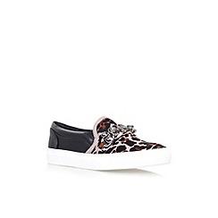 KG Kurt Geiger - Grey 'Lola' flat slip on sneaker