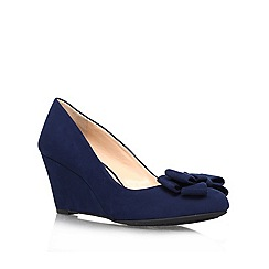 Jessica Simpson - Navy 'Sheryl' mid wedged courts