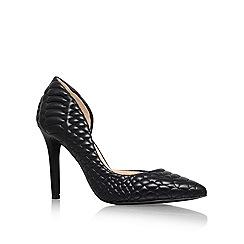 Jessica Simpson - Black 'Caldas' High Heeled Court Shoe