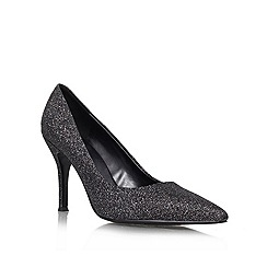 Nine West - Black 'Flax3' Glittery high heeled court shoes