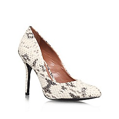 Vince Camuto - Black/White 'Jayne' High heeled court shoe