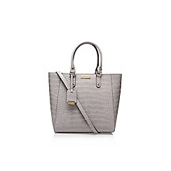 Carvela - Grey 'arlette' croc tote bag large handbag with shoulder strap