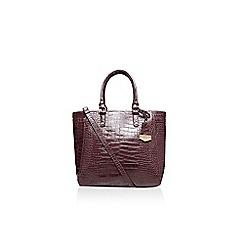 Carvela - Wine 'Arlette' croc tote handbag