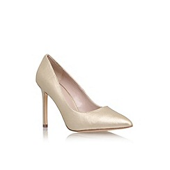 Carvela - Gold 'Kestral' high heel court shoe