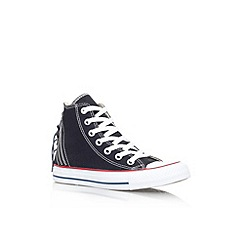 Converse - Black 'Ct tri zip hi' flat lace up hi top trainer