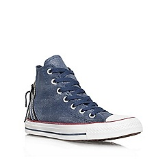 Converse - Converse navy 'ct tri zip' hi top lace up trainer