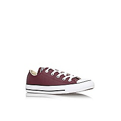 Converse - Wine comb 'Ct seas leath lw' flat lace up lo top trainer