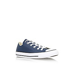 Converse - Navy 'Ct seas leath lw' flat lace up lo top trainer
