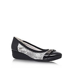 Anne Klein - Black White 'Bakula3' Wedge