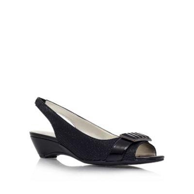 Anne Klein Black ´Beagan2´ Open-toe sling back - . -