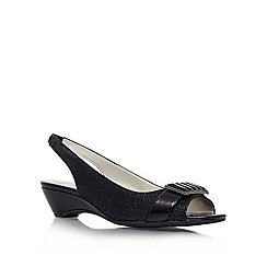 Anne Klein - Black 'Beagan2' Open-toe sling back