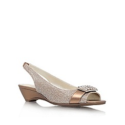 Anne Klein - Bronze 'Beagan2' Open-toe sling back
