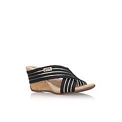 Anne Klein - Black 'LORRI2' Low wedge heeled sandal