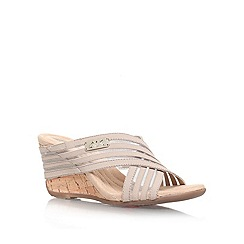 Anne Klein - Tan 'LORRI2' Low wedge heeled sandal
